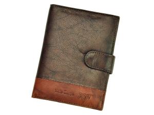 Wild N4L-GA D.Brown skórzany męski brązowy portfel