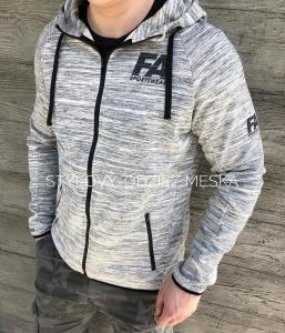 Męska bluza z zamkiem FA Hoodie Jacket 01 Melange Grey
