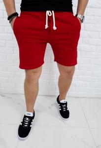 Czerwone dresowe meskie spodenki PF-0021