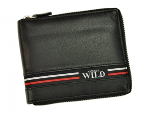 Always Wild N992Z-GV czarny skorzany portfel na zamek