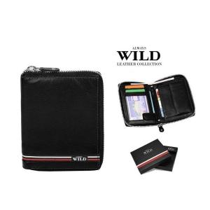 Always Wild N4Z-GV Black portfel meski skorzany czarny