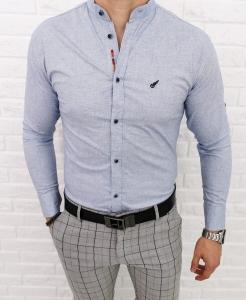 Bialo niebieska meska koszula ze stojka 0284/59
