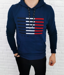 Granatowa bluza z kapturem Tommy life denim 87646