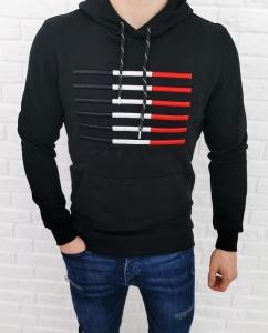 Czarna bluza z kapturem Tommy life 87646