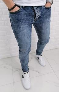 Spodnie meskie jeansowe marmurki 554