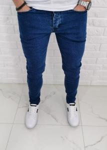 Granatowe klasyczne jeansy slim fit Denim 560