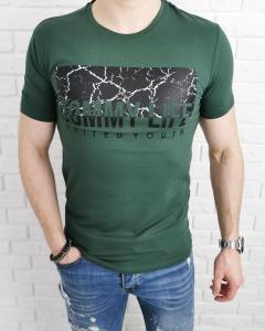 Zielona koszulka z aplikacja Tommy Life