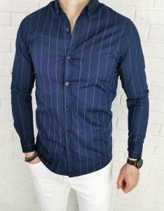 Granatowa koszula Tommy Life niebieskie paski