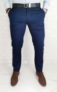 Granatowe męskie spodnie wyjściowe 570