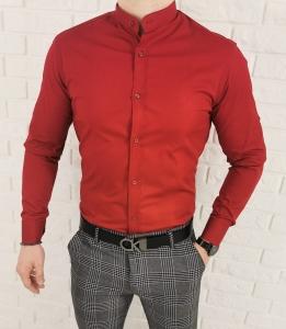 Bordowa koszula ze stojka imaginazzi z przeszyciami 1470