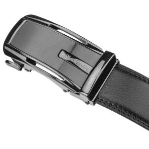Czarny skorzany pasek automat  Pierre Cardin 527 HY01