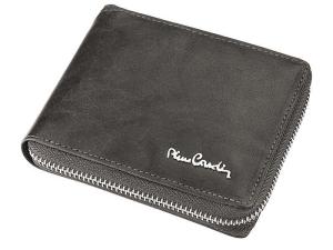 Męski portfel Pierre Cardin skórzany na suwak TILAK12 8818 RFID Szary