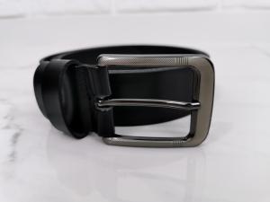 Czarny skorzany elegancki klasyczny meski pasek 03