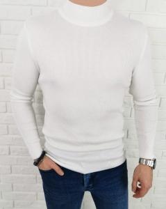 Bialy sweter polgolf meski 3431