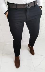 Czarne eleganckie spodnie frappoli 1082