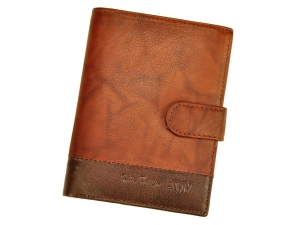 Portfel Wild N4L-GA L.BROWN brązowy skórzany męski portfel