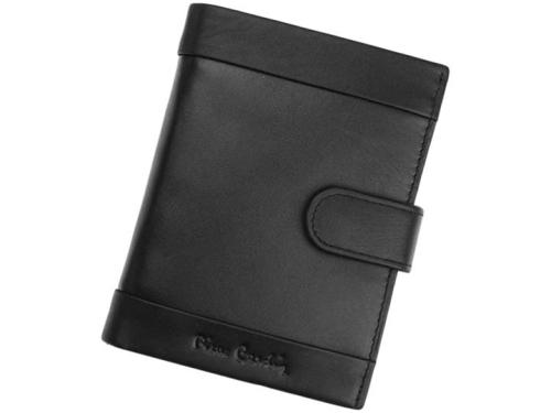 1bac21335c30 Pierre Cardin Tilak 25 326A nero męski pionowy skórzany czarny portfel