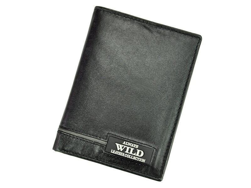 b8753ef523963 Always Wild N4-RB Black-Gray czarny męski portfel pionowy - Sklep ...